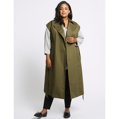M&S Collection CURVE Cotton Rich Longline Trench Coat