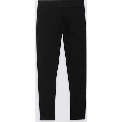 StayNEW Cotton Leggings with Stretch (3-14 Years), Black
