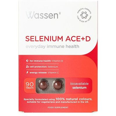 Wassen We Protect Immune Health  SELENIUM ACE D  90 tablets - 5013662600025