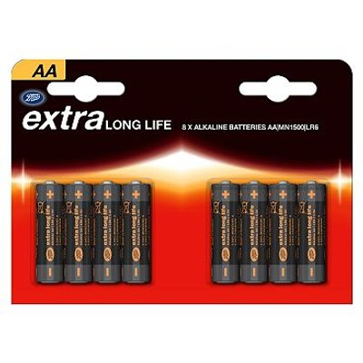 5045097773371 | Extra Long Life AA Boots Batteries x 8