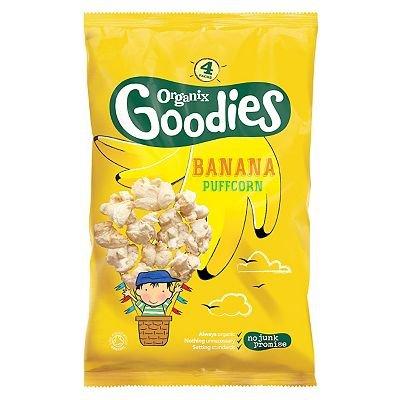 Months 4 x 10g 40g Organix Goodies Banana Puffcorn 12