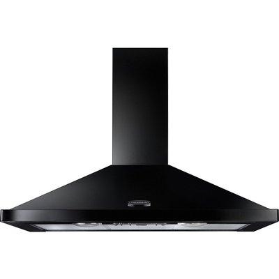 RANGEMASTER  LEIHDC110BC Chimney Cooker Hood   Black   Chrome  Black - 5028683089339