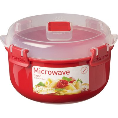 19414202011135 | SISTEMA  Round 915 ml Microwave Box   Red  Red