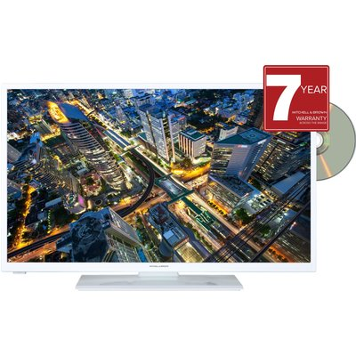 JB-241811FSMDVDWHT 24 inch HD Ready Smart TV with DVD Player - White