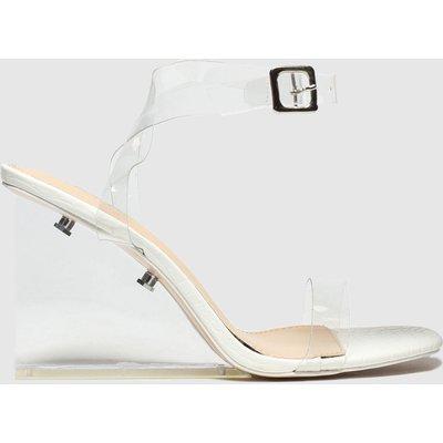 Public Desire White Lati High Heels