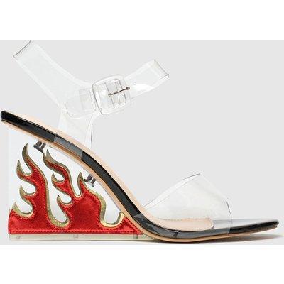 Public Desire Black & Red Hot Af High Heels
