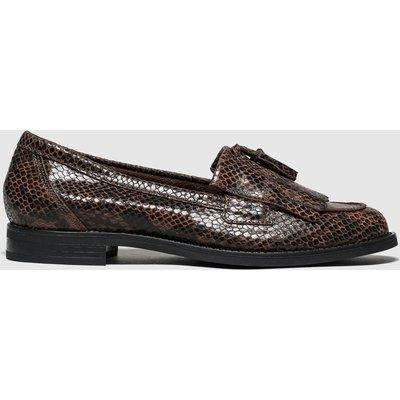 Schuh Brown & Black Compass Flat Shoes