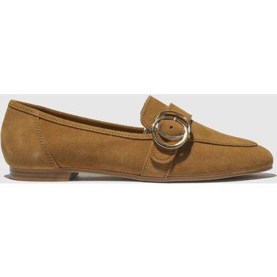 Schuh Tan Opulent Flat Shoes