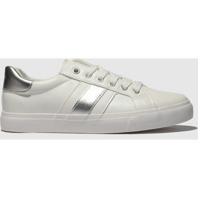 Schuh White & Silver Mash Up Trainers