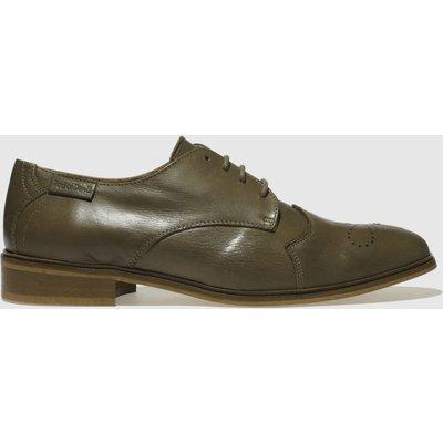 Red Or Dead Khaki Financier Flat Shoes