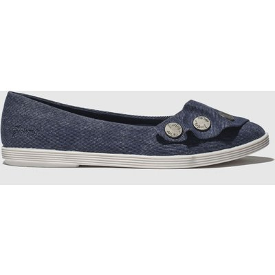 Blowfish Blue Galena Vegan Flat Shoes
