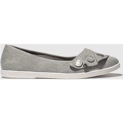 Blowfish Grey Galena Vegan Flat Shoes