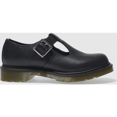 Dr Martens Black Polley T-bar Flat Shoes