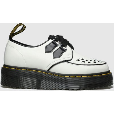 Dr Martens White & Black Sidney Flat Shoes