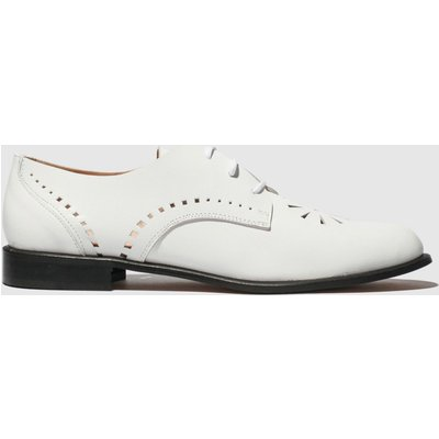 Red Or Dead White Peyton Flat Shoes