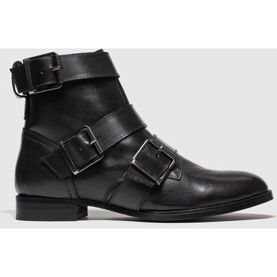 Schuh Black Buckle Up Boots