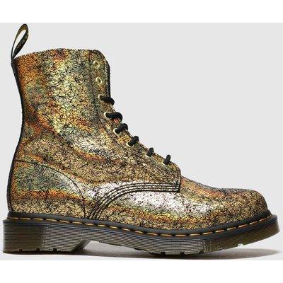Dr Martens Gold 8 Eye Iridescent Crackle Boots