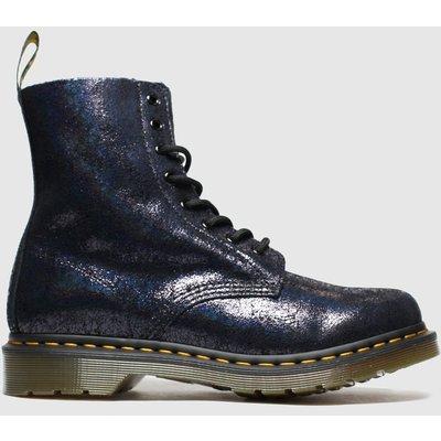 Dr Martens Black 8 Eye Iridescent Crackle Boots