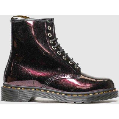 Dr Martens Purple 8 Eye Sparkle Boots