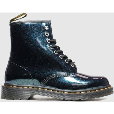 Dr Martens Dark Green 8 Eye Sparkle Boots
