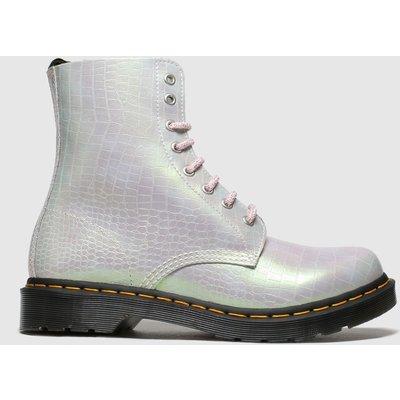 Dr Martens Pale Pink 8 Eye Iridescent Croc Boots