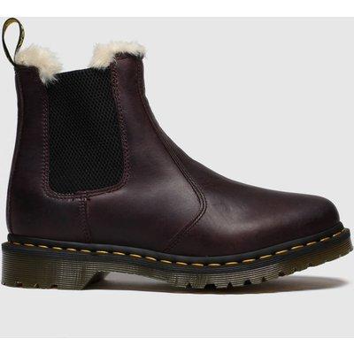 Dr Martens Purple Leonore Fur Lined Chelsea Boots
