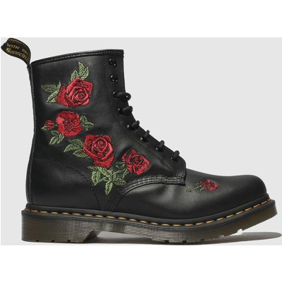 Dr Martens Black & Red 1460 Vonda Boots