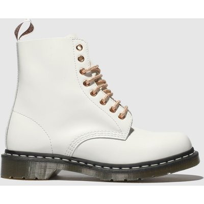 Dr Martens White & Gold 1460 8 Eye Boot Boots