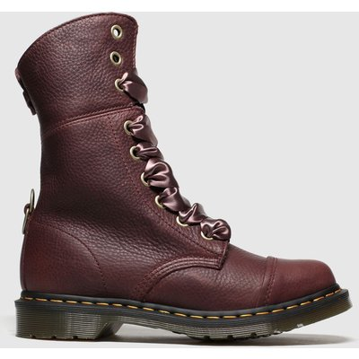 Dr Martens Burgundy Aimilita Boots