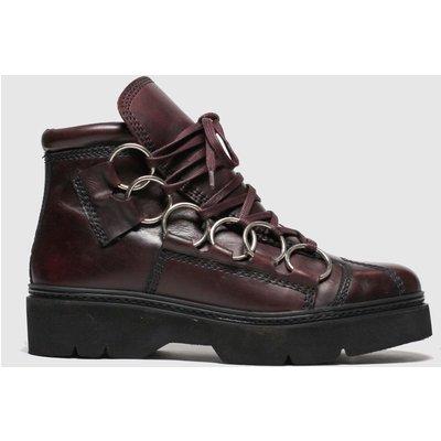 Schuh Burgundy Word Boots