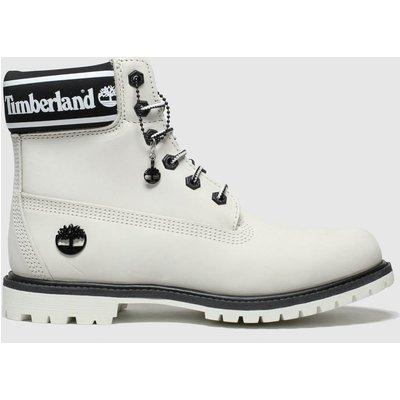 Timberland White & Black 6