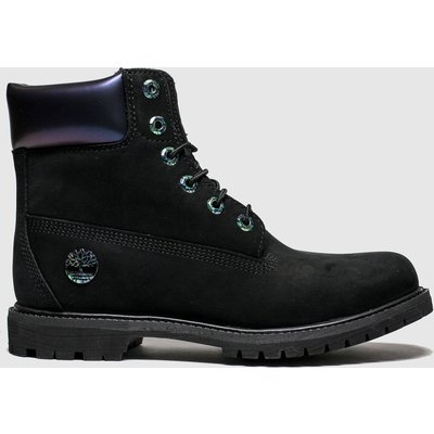 Timberland Black 6 Inch Icon Iridescent Boots