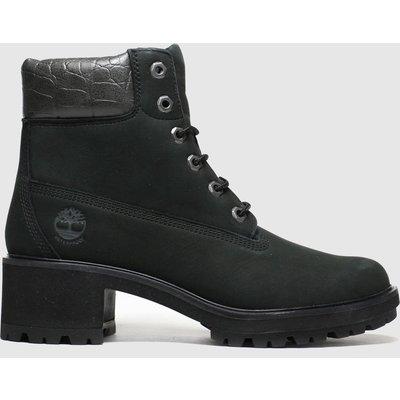 Timberland Black 6 Inch Kinsley Snake Heel Boots