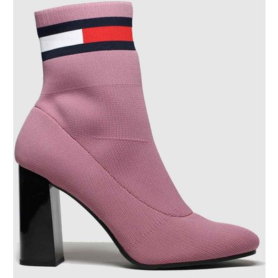 Tommy Hilfiger Pink Sock Heeled Boots