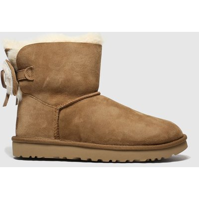 Ugg Tan Classic Double Bow Mini Boots