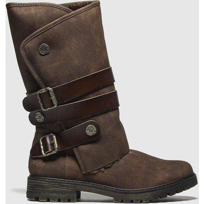 Blowfish Brown Rider Shearling Boots