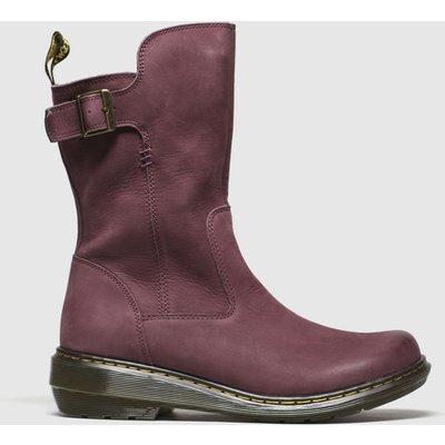 Dr Martens Burgundy Vaux Mid Boots
