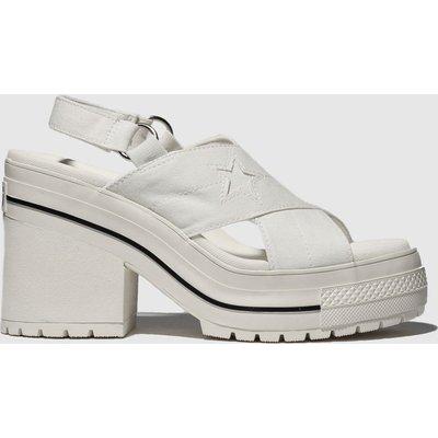 Converse White One Star Heel Sandals