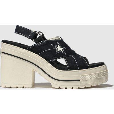 Converse Black & White One Star Heel Sandals