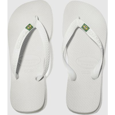 Havaianas White Brasil Sandals