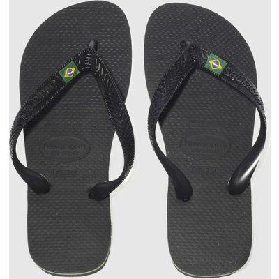 Havaianas Black Brasil Sandals