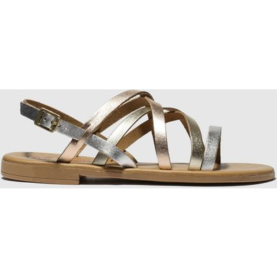 Schuh Gold & Silver Amalfi Sandals