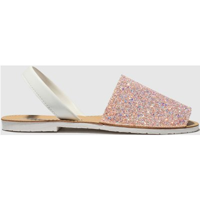 Schuh White & Pink Barcelona Sandals