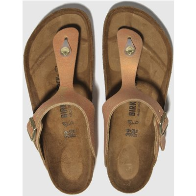 Birkenstock Bronze Gizeh Washed Metallic Sandals
