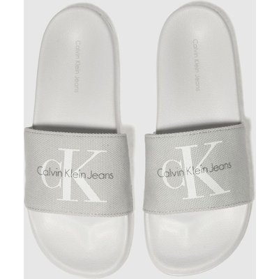 Calvin Klein Grey Jeans Chantal Heavy Canvas Sandals