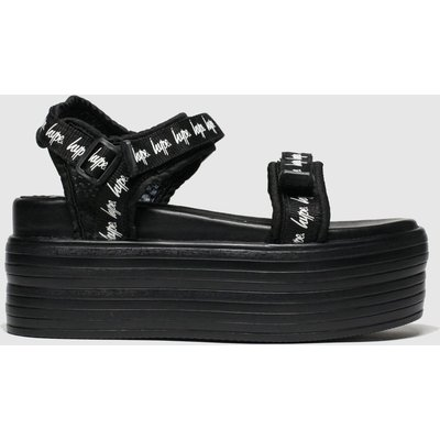 Hype Black Tape Flatform Sandals
