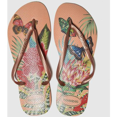 Havaianas Natural Slim Tropical Sandals