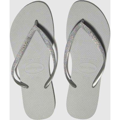 Havaianas Grey Slim Glitter Sandals
