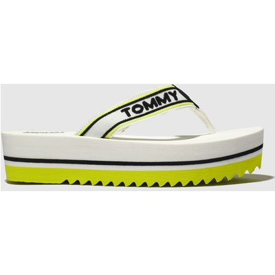 Tommy Hilfiger White Tj Pop Webbing Mid Beach Sandals