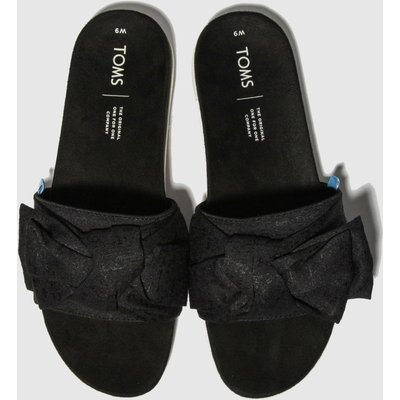 Toms Black & White Paradise Slide Sandals